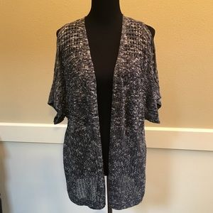 Christopher & Banks cold shoulder open Cardigan